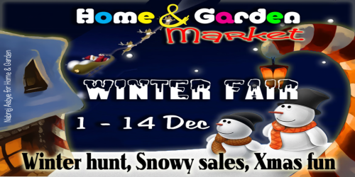 Home and Garden Market Winter Fair Poster