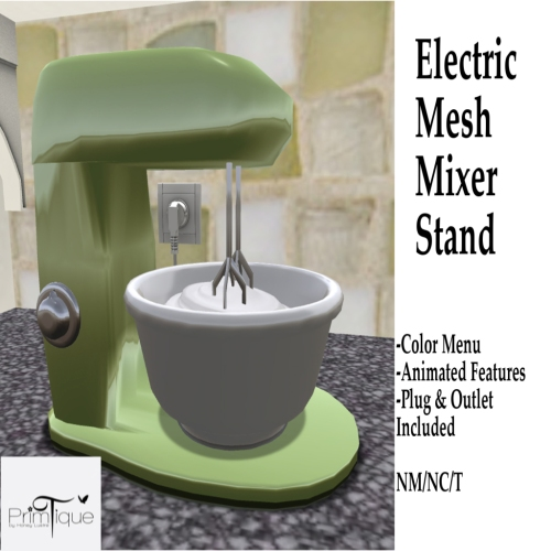 Primtique Electric Mesh Mixer Stand Advert -Honey Lustre