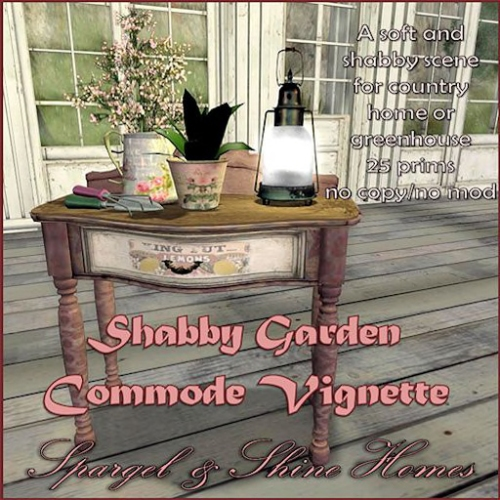 Shabby Commode Garden Vignette Vendor jpg